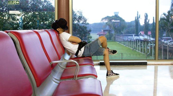esperando aeropuerto