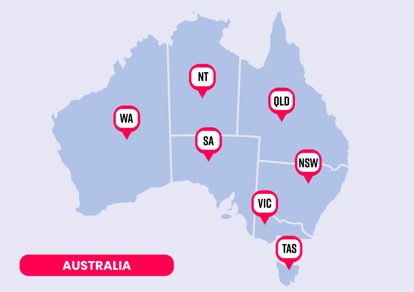 Mapas Australia AUS