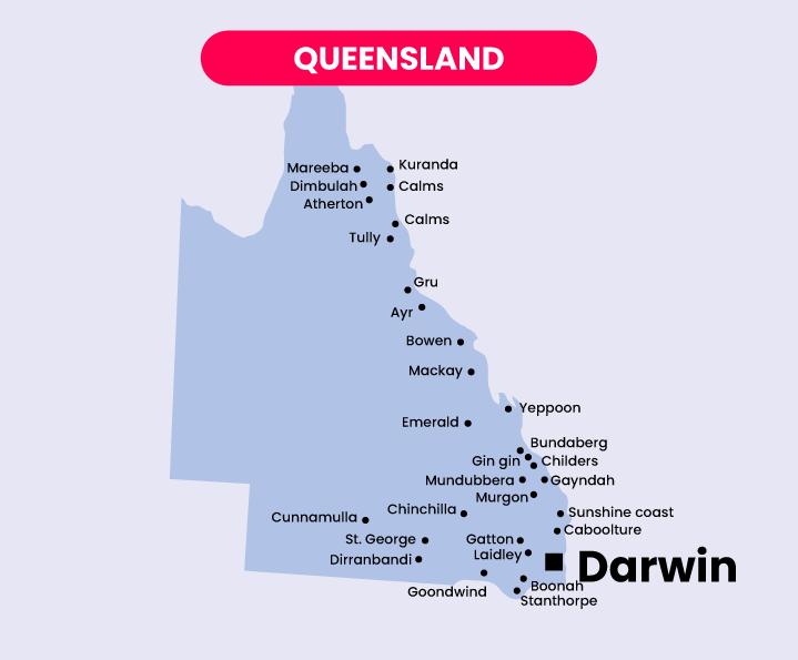 Mapas Australia QUEENSLAND